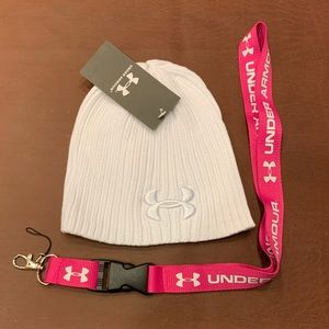 Brand new Under Armour Beanie and Lanyard